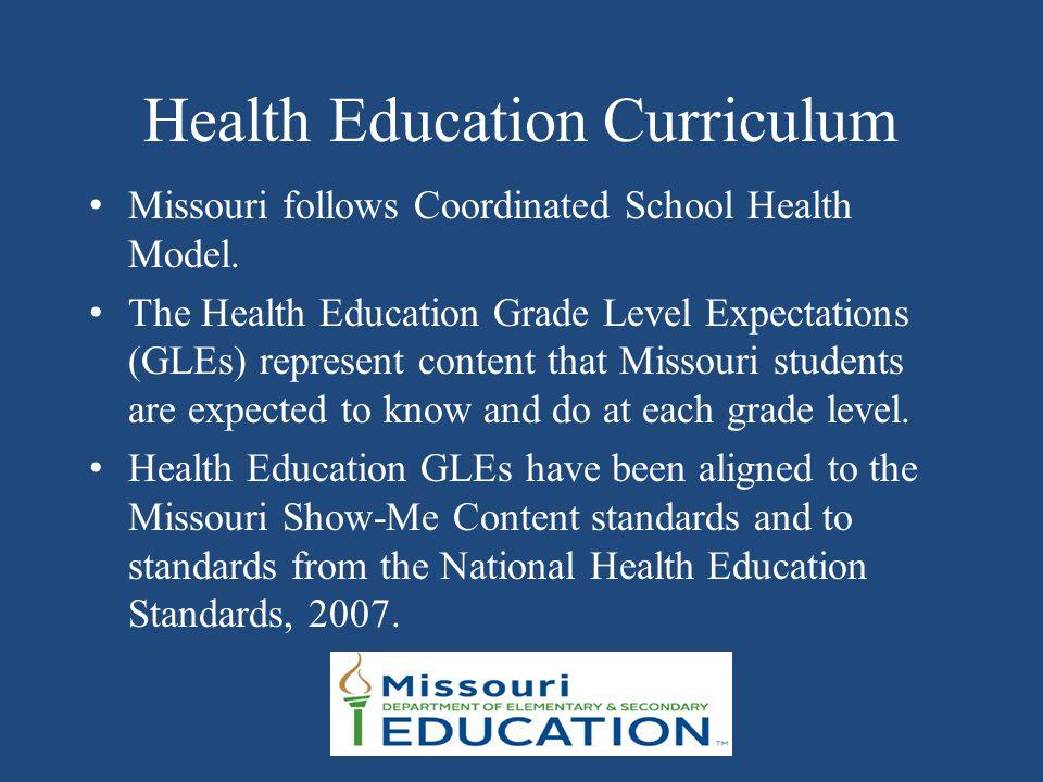 Health Education Curriculum Missouri follows Coordinated School Health Model.