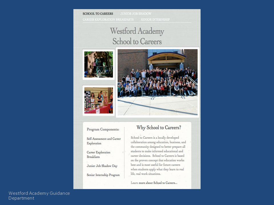 Naviance Westford Academy Guidance Department