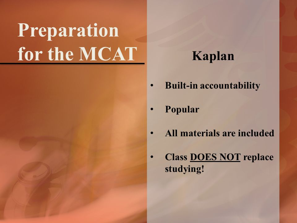 Kaplan Built-in accountability Popular All materials are included Class DOES NOT replace studying.