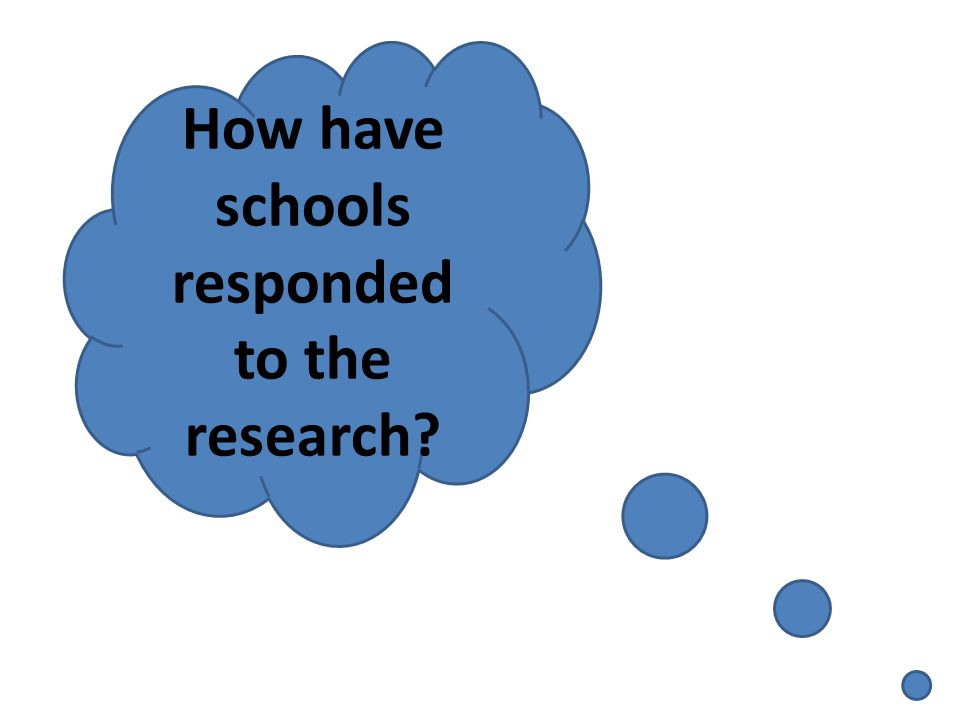 How have schools responded to the research