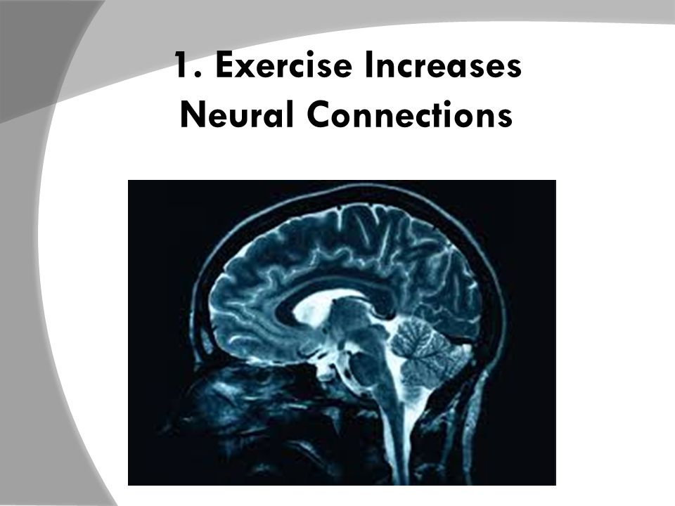 1. Exercise Increases Neural Connections