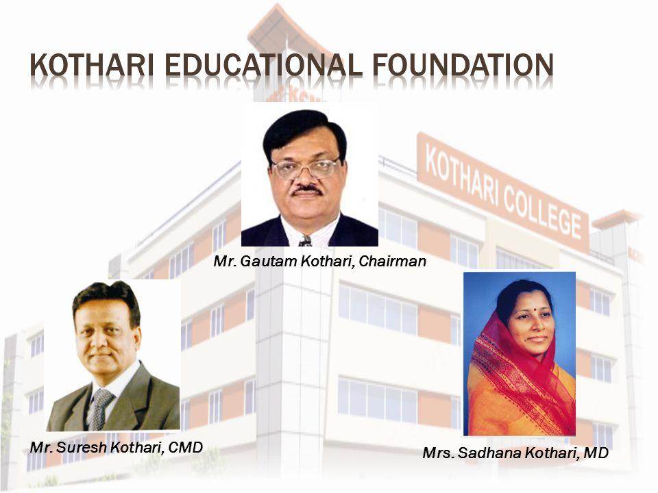 Mr. Gautam Kothari, Chairman Mr. Suresh Kothari, CMD Mrs. Sadhana Kothari, MD