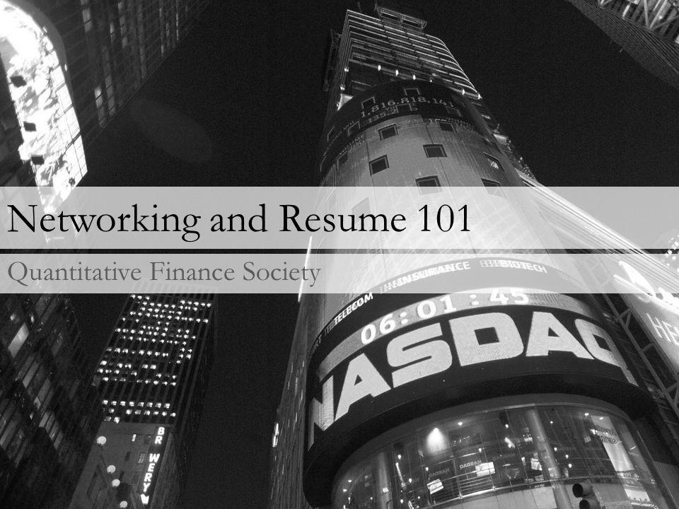 Resume Consistency is key.