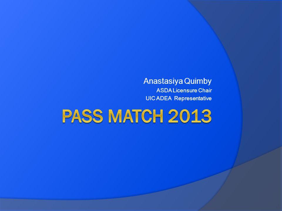 Anastasiya Quimby ASDA Licensure Chair UIC ADEA Representative