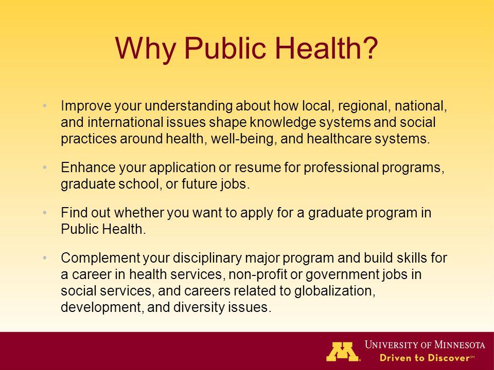 Why Public Health.