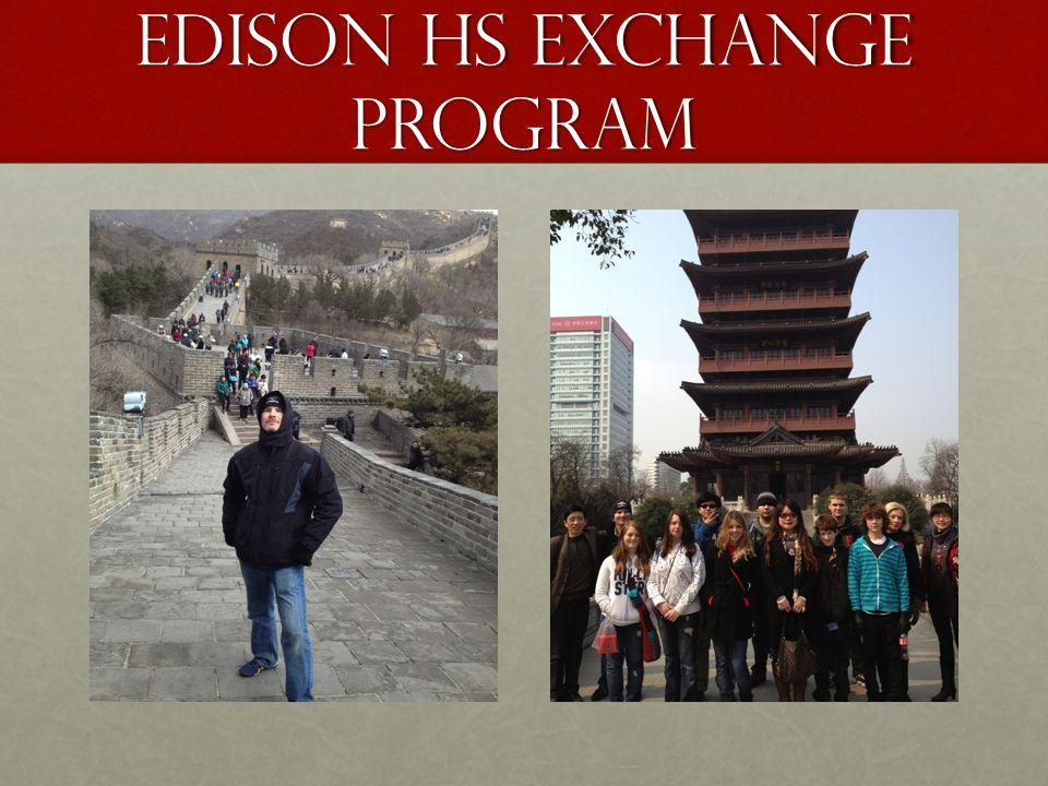 Edison HS Exchange Program