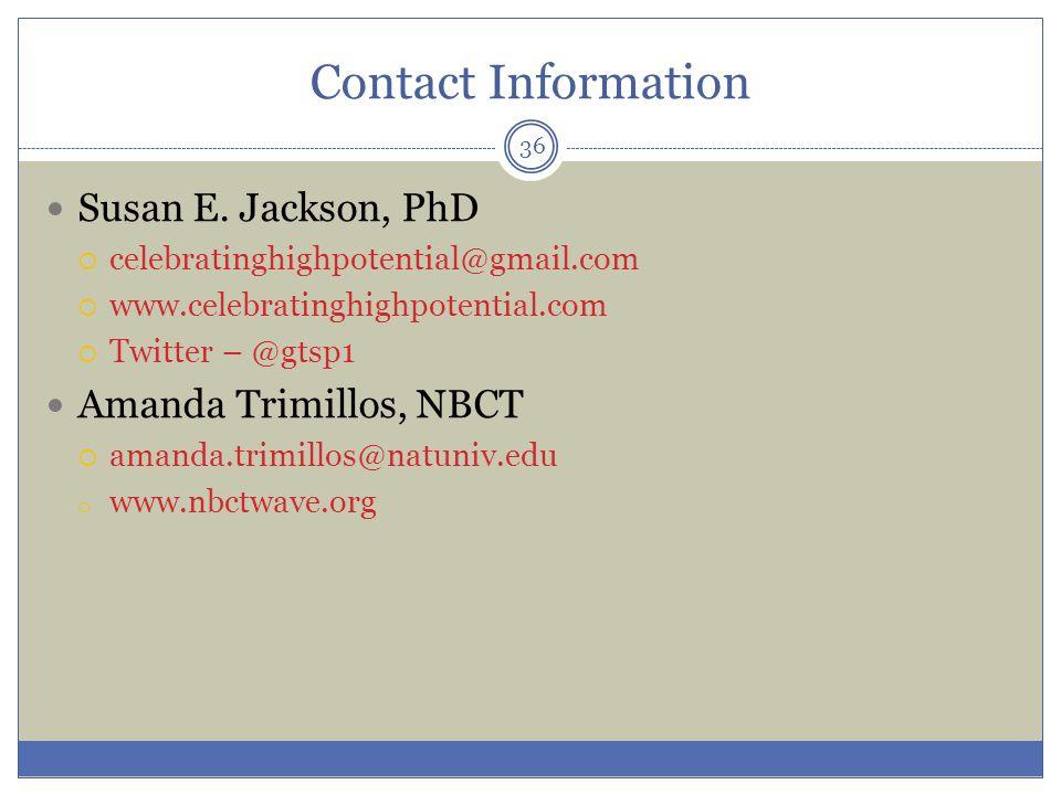Contact Information Susan E.