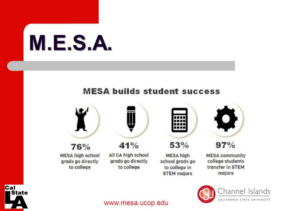 M.E.S.A. www.mesa.ucop.edu