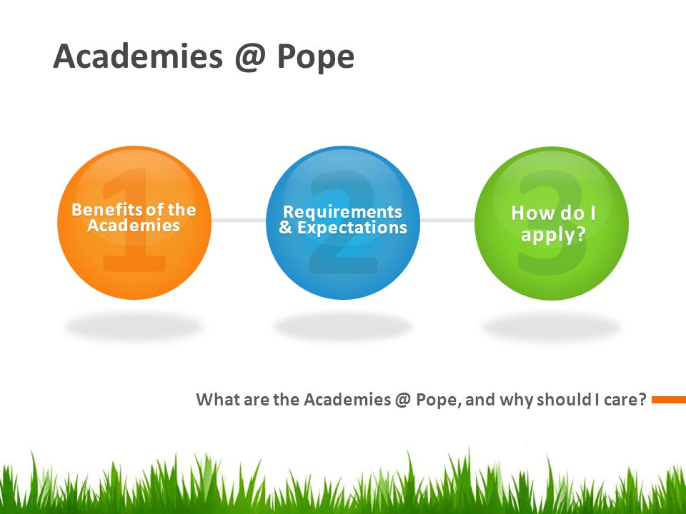 Academies @ Pope What are the Academies @ Pope, and why should I care.