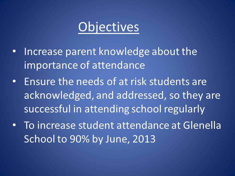 Attendance interview video by Grade 10 class Questions and Comments?