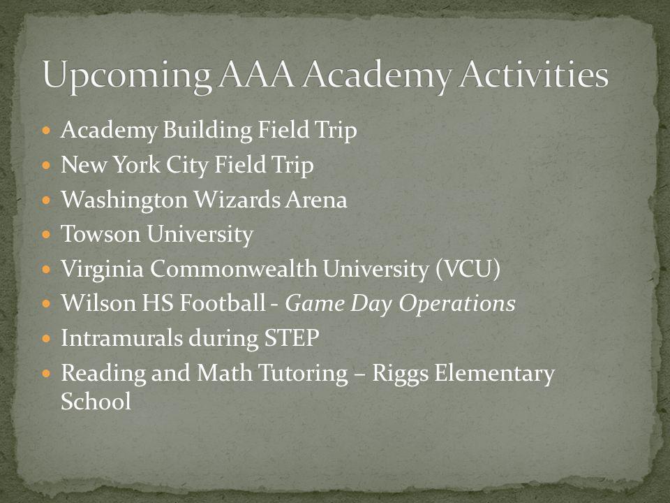 Academy Building Field Trip New York City Field Trip Washington Wizards Arena Towson University Virginia Commonwealth University (VCU) Wilson HS Footb