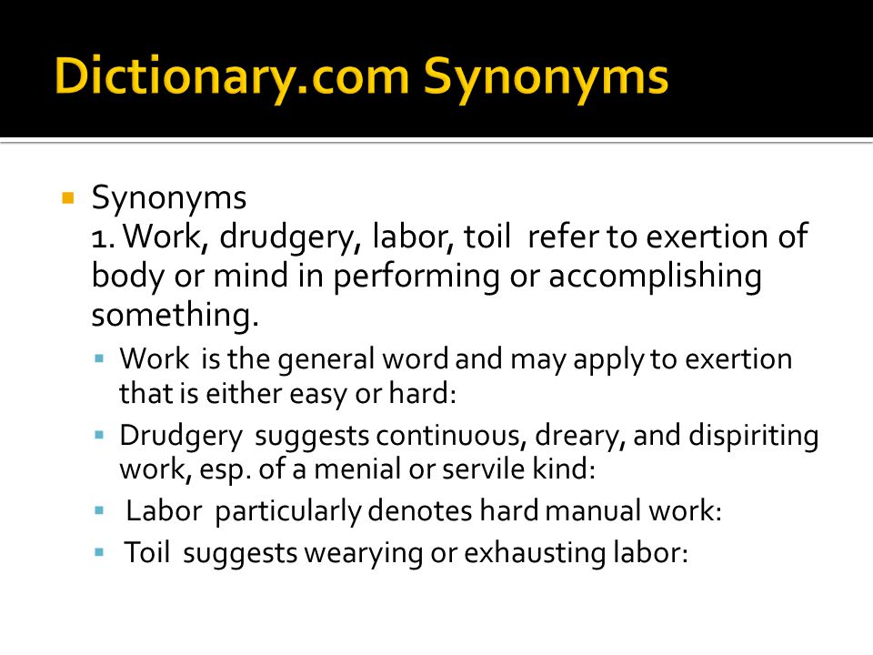  Synonyms 1.