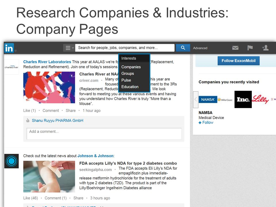Research Companies & Industries: Groups
