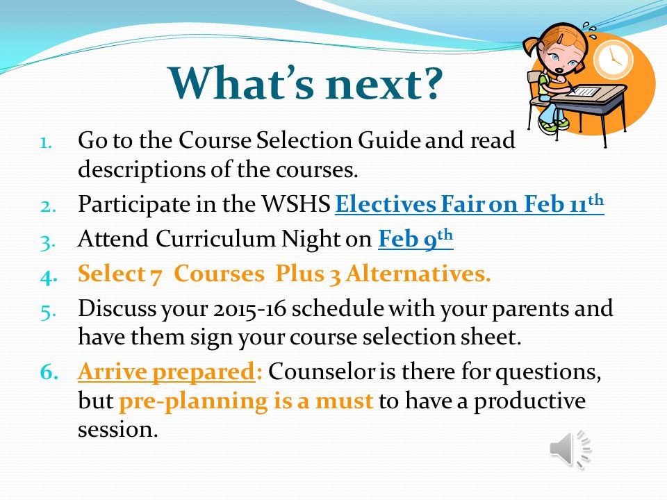Curriculum Night 2014 Program for Parents of Upperclassmen Welcome & Overview of the Structure of Tonight Power Point for Students – Key Points Overvi