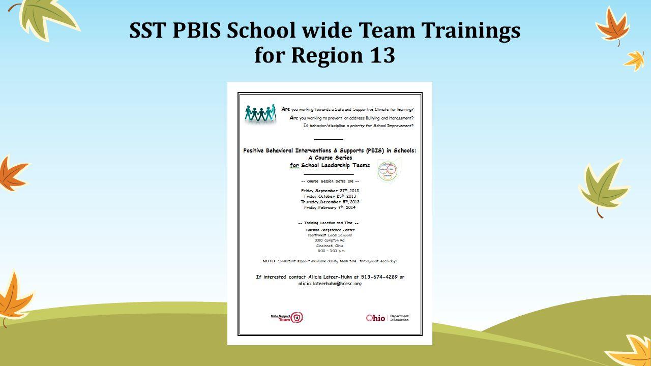 SST PBIS School wide Team Trainings for Region 13