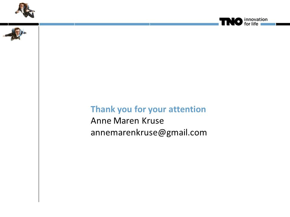Thank you for your attention Anne Maren Kruse annemarenkruse@gmail.com