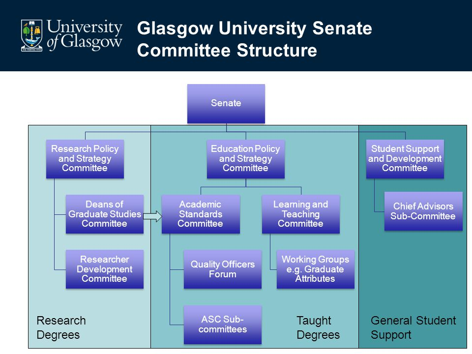 Education Policy and Strategy Committee Learning and Teaching Committee Working Groups e.g.