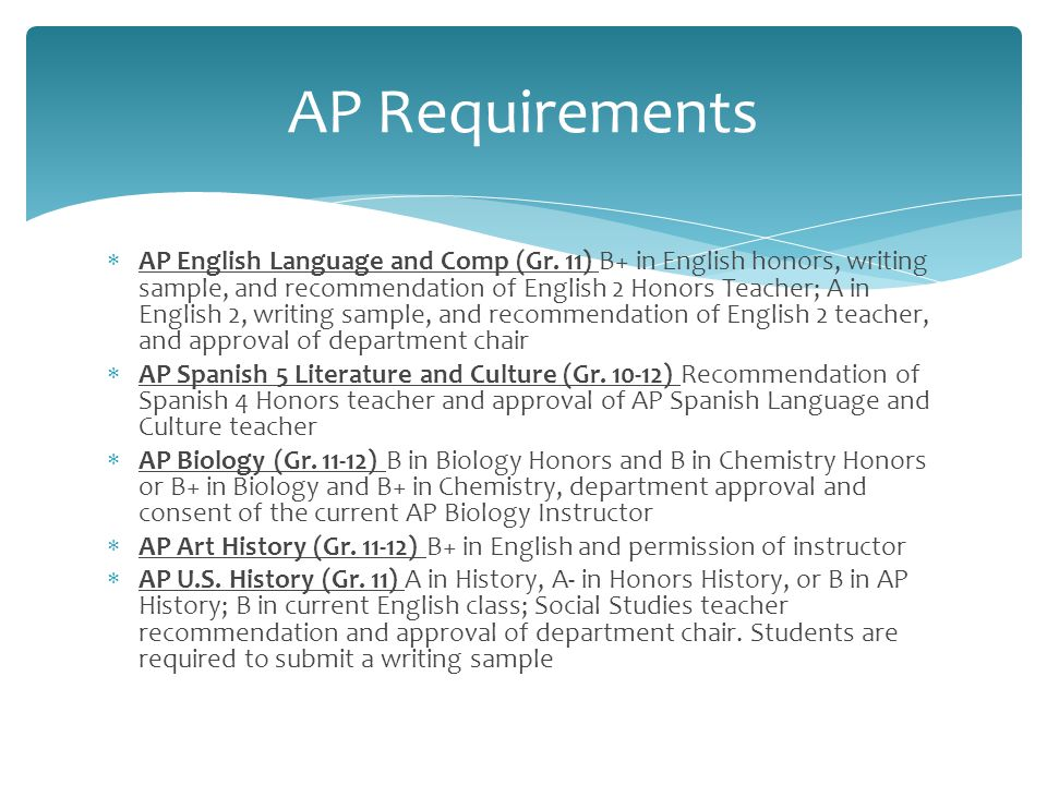  AP English Language and Comp (Gr.