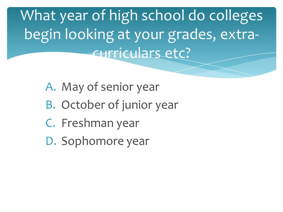 Why should I start thinking about college already?!