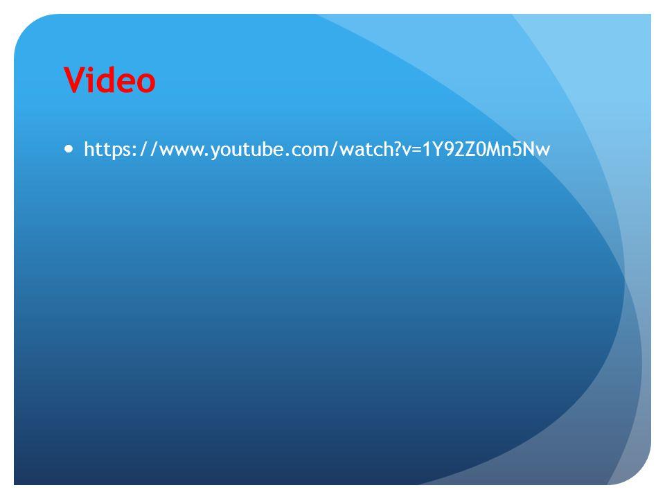 Video https://www.youtube.com/watch v=1Y92Z0Mn5Nw