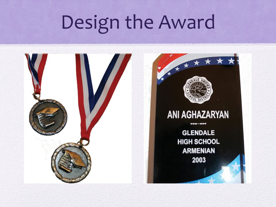 Design the Award