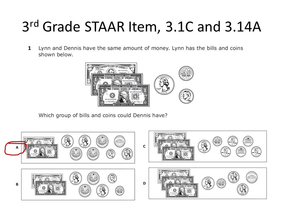 3 rd Grade STAAR Item, 3.1C and 3.14A