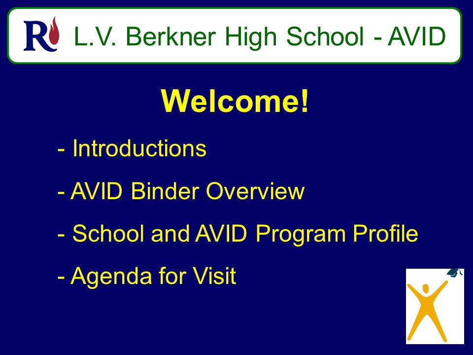 L.V. Berkner High School - AVID Welcome.