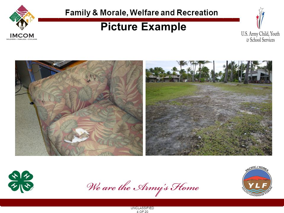 UNCLASSIFIED 5 OF 20 Family & Morale, Welfare and Recreation 2.