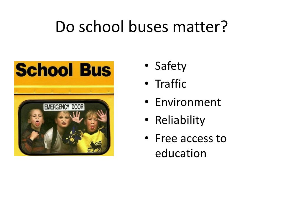 Evolution of School Transportation