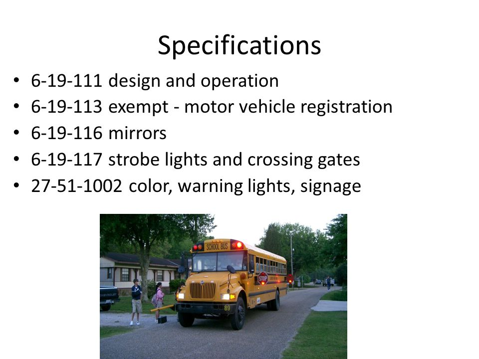 Permit Numbering System 9-5-11 First number – County Second Number – District Third number – Bus Statute ACA 6-19-115