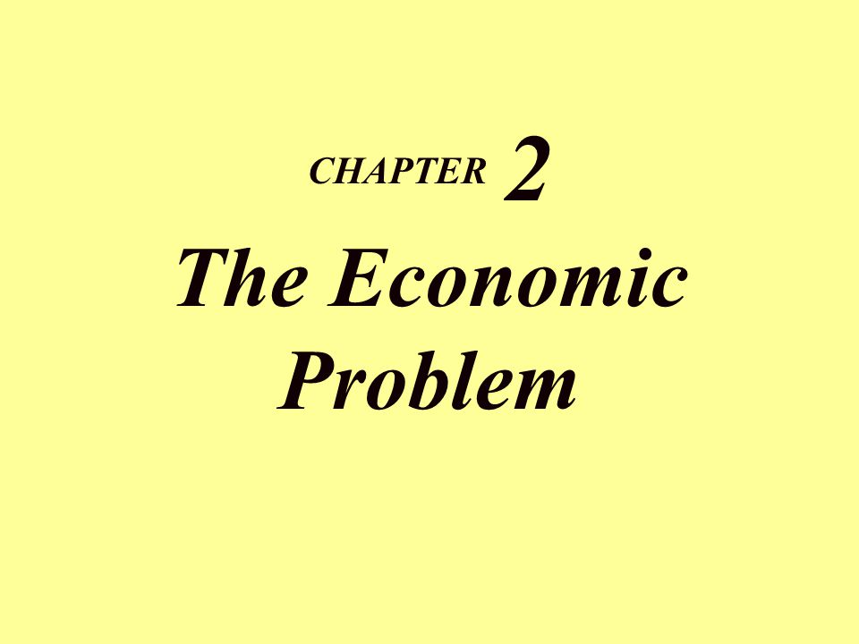 CHAPTER 2 The Economic Problem
