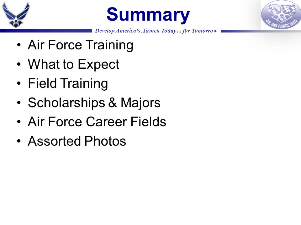 Develop America s Airmen Today...
