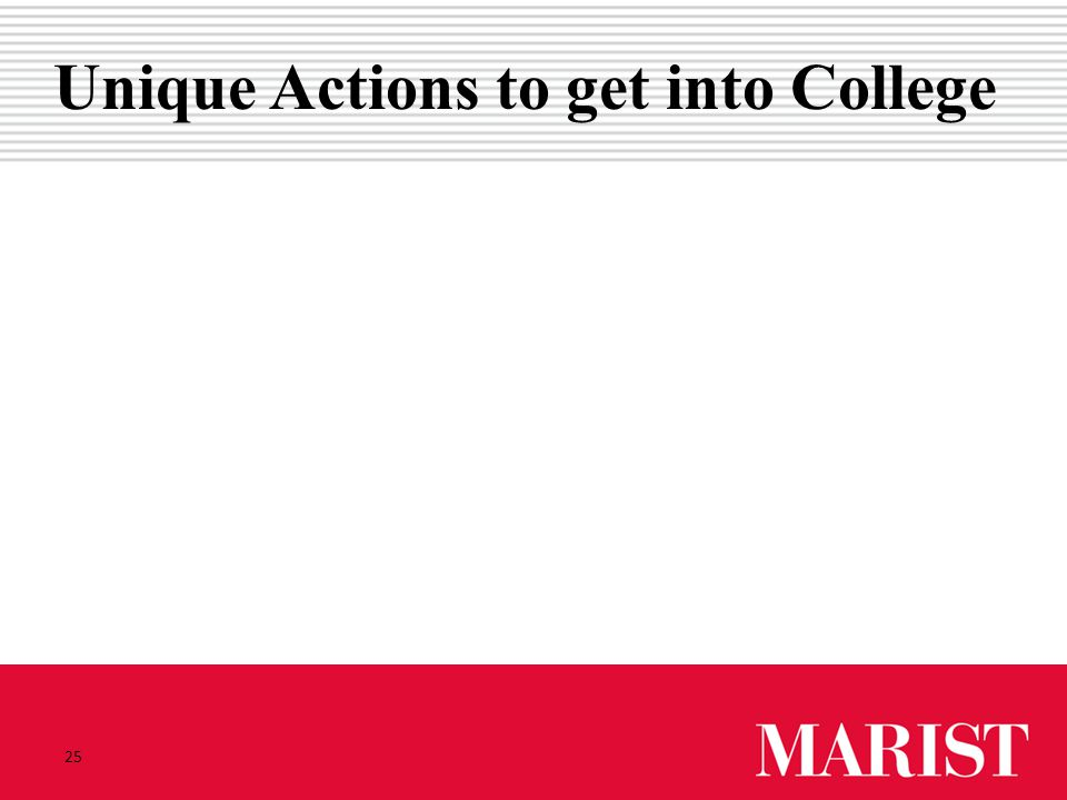 Unique Actions to get into College 25