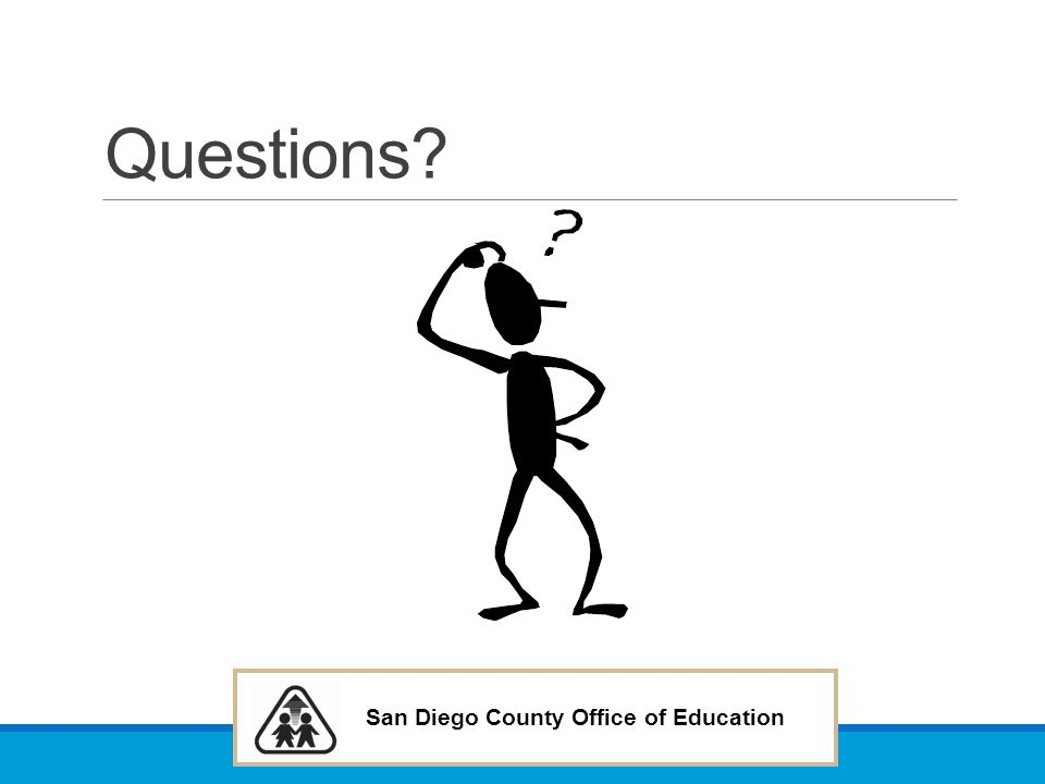 San Diego County Office of Education Questions?