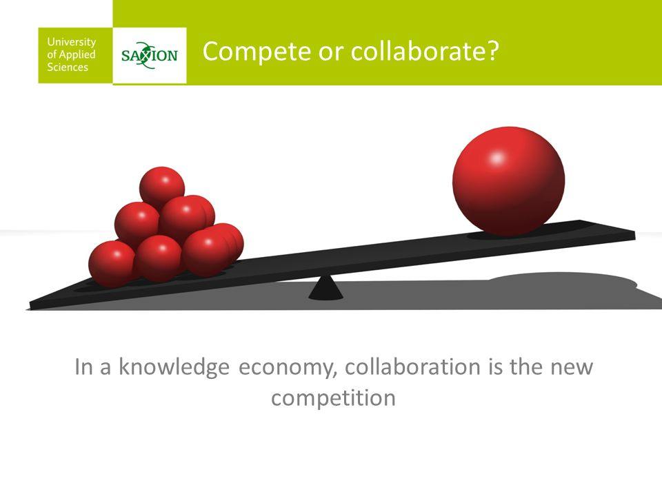 In a knowledge economy, collaboration is the new competition