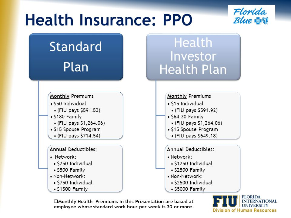 HMOs vs. PPOs Plans -Coverage in service network only -No coinsurance or deductibles to meet -Coverage in or out of service network -Coinsurance and d