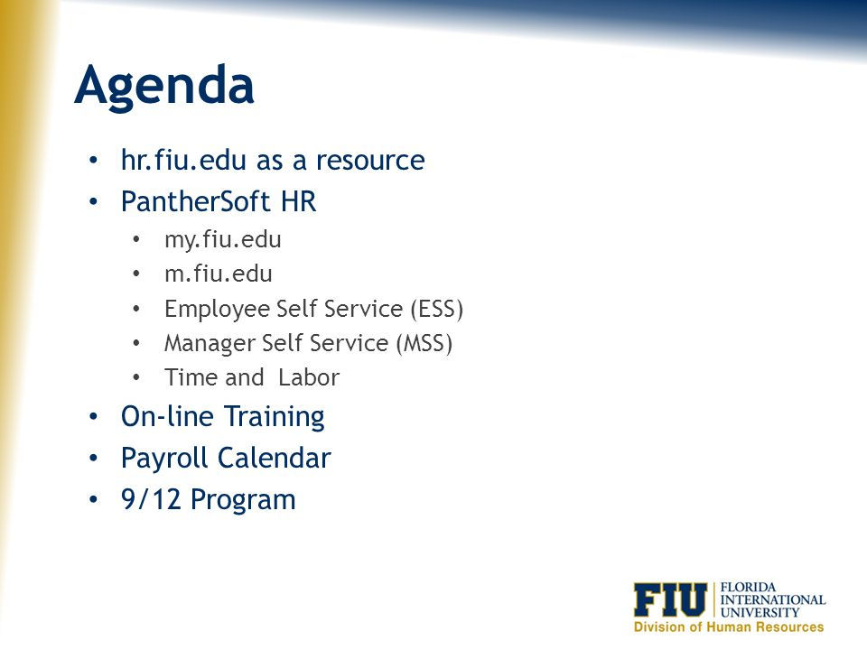 Payroll Essentials Presented by: Carlos Flores, Executive Director HR Operations and Systems