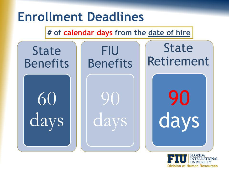 Enrollment Information On-Line People First peoplefirst.myflorida.com Phone People First 866-663-4735 One-on-One Session FIU Benefits Department 305-348-2181
