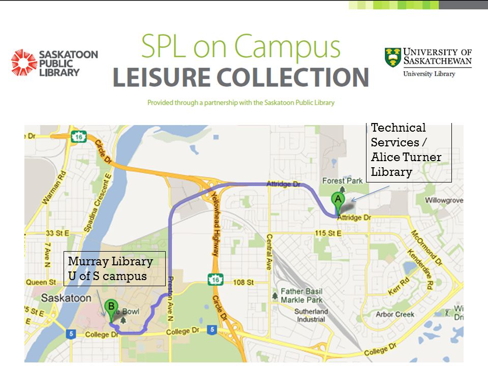 Murray Library U of S campus Technical Services / Alice Turner Library