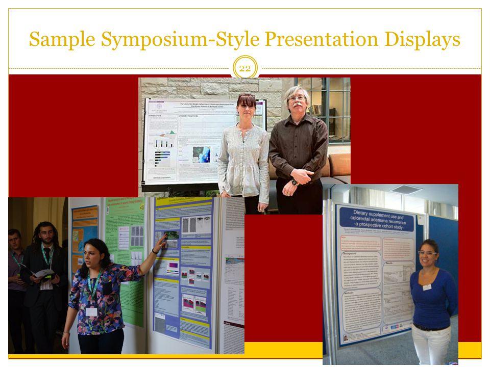 Sample Symposium-Style Presentation Displays 22