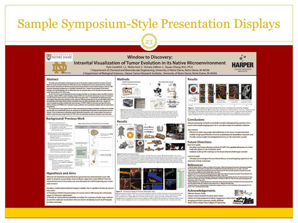 Sample Symposium-Style Presentation Displays 23