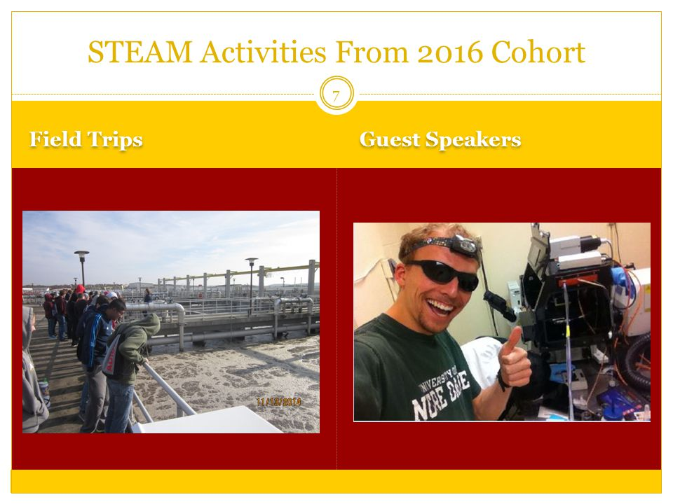 Field Trips Guest Speakers 7 STEAM Activities From 2016 Cohort