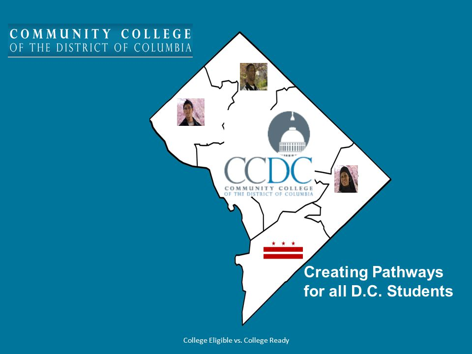 Efforts This Year –Columbia Heights Educational Campus and YouthBuild Public Charter School Moving Forward –Enroll eligible high schools students in Dual Enrollment at CCDC –Provide assistance and tracking for high schools regarding Dual Enrollment participants –Create career paths and service plans for Dual Enrollment students College Eligible vs.