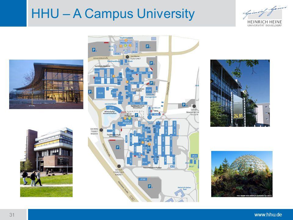 www.hhu.de HHU – A Campus University 31