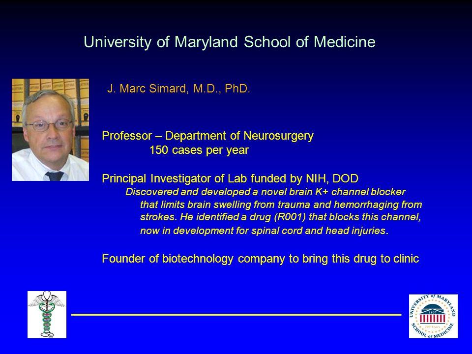 Johns Hopkins University School of Medicine Associate Professor – Dept.