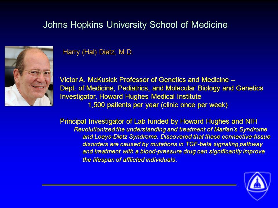 Johns Hopkins University School of Medicine Victor A.