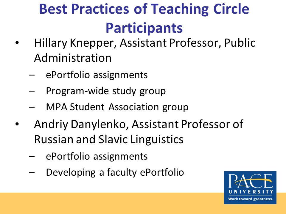Teaching Circle Participant Portfolio