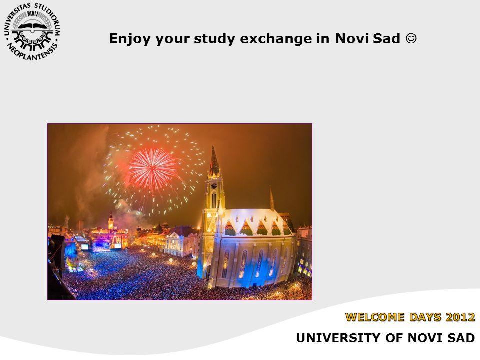 Enjoy your study exchange in Novi Sad