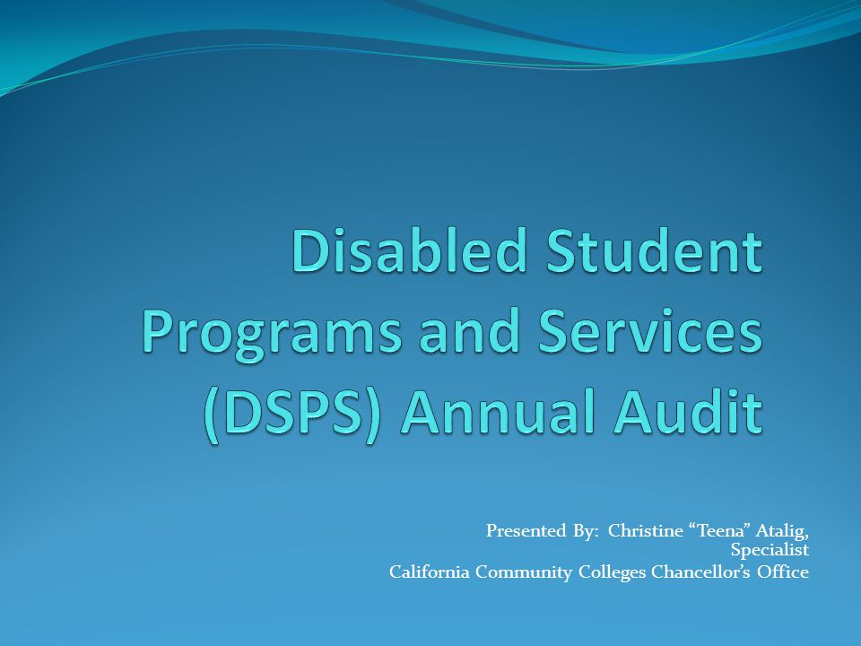 Presented By: Christine Teena Atalig, Specialist California Community Colleges Chancellor's Office
