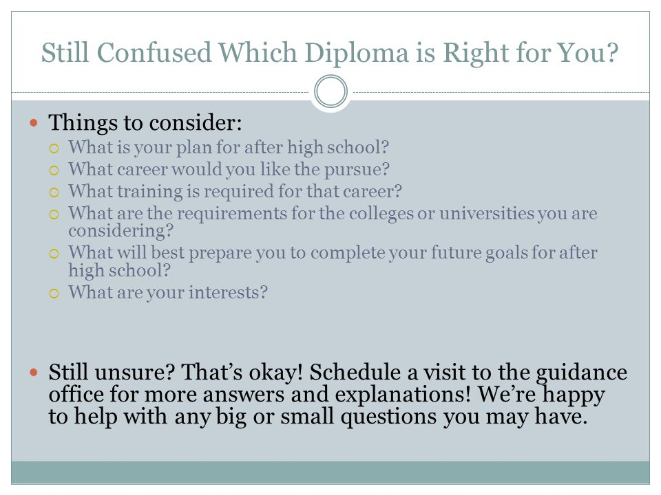 Still Confused Which Diploma is Right for You.